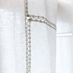 LINEN PATCH CURTAINS WITH CROCHET DETAILS