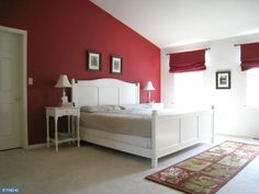 Red Accent Wall red accent wall bedroom | guest bedroom ~ decor thoughts - project