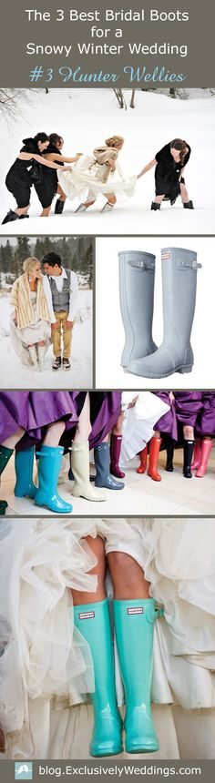 Bridal Snow Boots  - Winter Wedding Snow Boots for the Bride - If you plan to wear boots at some point on your wedding day, there are three styles of boots that I think work really well for brides and they are  ….