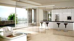 como-dividir-ambientes-panel-acristalado-cocina-salon