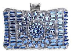 Oferta: 55€ Dto: -36%. Comprar Ofertas de Santimon Clutches Carteras de Mano Bolsos de Mujer Rhinestones Dazzling Bolsos Beaded Fiesta Prom Bolsas Azul barato. ¡Mira las ofertas!