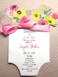 Floral Onesie Baby Shower Invitation by IcingOnTheParty on Etsy, $25.00