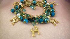 CHINESE Crested- Hairless - Charm Bracelet -ja9- Dog - Jewelry - Free Gift-  Handmade by USArtisan - Last One by HOBBYHORSELADY on Etsy