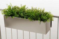 """Blumenkasten Balkonkasten """"Binox"""" aus V2A Edelstahl, 60 cm, gebürstet"""
