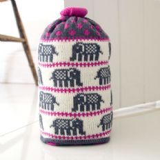 Knitted doorstop - elephant - The Other Duckling