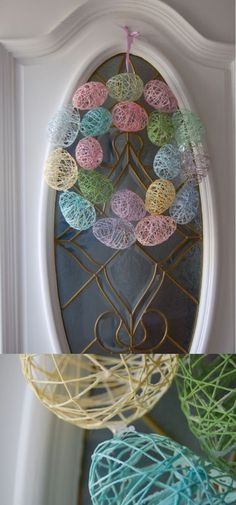 Fun & Easy Easter Crafts For Kids - FarmFoodFamily - Decor Ideas - Easter Egg Wreath Easy Easter Crafts, Bunny Crafts, Easter Crafts For Kids, Easy Crafts, Fun Easter Ideas, Unicorn Crafts, Kids Diy, Handmade Crafts, Diy Spring Wreath