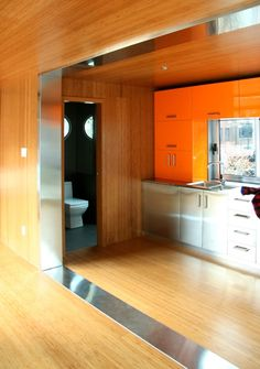 An attractive shipping container house shows the benefits of prefab living.                                                                                                                                                                                 More