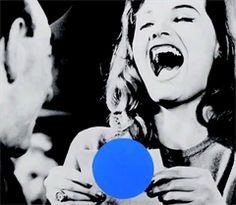 John Baldessari I chose this piece by John Baldessari because I found it funny how he put the blue dot in that particular location. It almost looks like a censor dot.