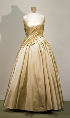 Christian Dior, c. 1955, Silk satin  this looks so in fashion today