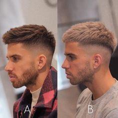 Men Haircut Curly Hair, Short Fade Haircut, Mohawk Hairstyles Men, Short Hair With Beard, Short Hair Cuts, Cool Haircuts, Haircuts For Men, Crew Cut Haircut, Gents Hair Style