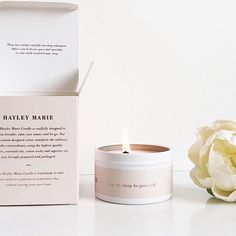 Hayley Marie Candles, Made with purpose
