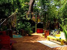 Patio, Indian Summer Lodge, 605 Columbia St., Houston Heights