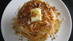 White Chocolate Coconut Pancakes