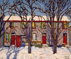 Canadian Modern Art - Toronto Houses - Lawren Harris - Group of Seven Group Of Seven Art, Group Of Seven Paintings, Urban Landscape, Landscape Art, Landscape Paintings, Emily Carr, Canadian Painters, Canadian Artists, Tom Thomson