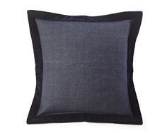 Navy pillow trimmed in black very sharp Lexington Kissenhülle Contrast Edge Sham 65 x 65 cm navy