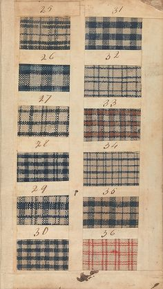 Textile Sample Book MET 156.4 T31 date 1771 This sample book from Manchester, England manufacturing firm of Benjamin and John Bower is an excellent example of the variety of linen/cotton textiles available in England and here in America.  The diversity of patterns is endless.  In the Foundling collection you find representatives of many of these goods, some well used, others appearing brand new. Angela