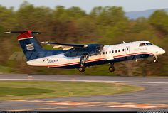 Second US Airways Express departure of the morning to Charlotte - Douglas. US Airways Express (Piedmont Airlines) De Havilland Canada DHC-8-311 Dash 8 Charlottesville - Albemarle (CHO / KCHO) USA - Virginia, April 25, 2014