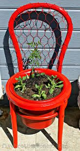 PLANT STAND FROM BROKEN CHAIR SEAT  - W/O BACK