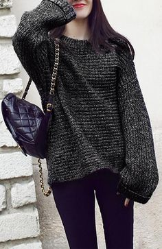 Easy Day Knit Oversized Sweater