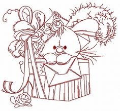 Bunny in the box 3 machine embroidery design. Machine embroidery design. www.embroideres.com