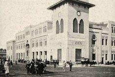 محطة باب الحديد ( محطة رمسيس ) بالقاهرة عام 1910 م تقريبا
