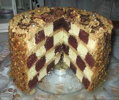 Moje pyszne, łatwe i sprawdzone przepisy :-) : Tort kawowy szachownica z prażonym słonecznikiem