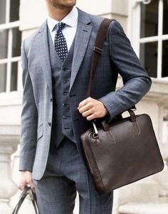 Suit up. Image via Suit Up, Suit And Tie, Travel Accessories For Men, Men's Accessories, Look Man, Blazers, Gentleman Style, Look Chic, Work Attire