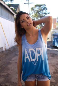 ADPi Ombre Tank #AlphaDeltaPi #ADPi #ombre #flowy