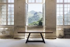 DUODECIMO TABLE  #BrahmansHome #BrahmansFiveElements #Brahmans #Design #Interiordesign #photoshoot #photosession #fashion #luxuryfashion #chateaugudanes #France #hautecouture #duodecimo #table #luxury #furniture #homedecor #fivelements #wood #walnut #AmericanWalnut #homeinspirations