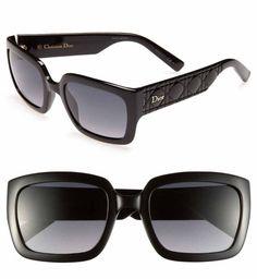 "Dior ""My Dior"" Special Fit 53mm Black Sunglasses"