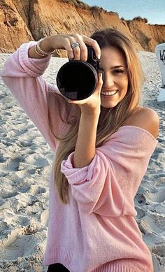 Girls With Cameras, Used Cameras, Female Photographers, Wildfox, Round Sunglasses, Take That, Poses, People, Beautiful