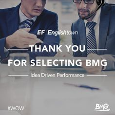 Thank you English Town for Selecting BMG as Partners! #WOW