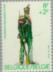 Belgian Military Uniforms   Stamp: Military uniforms (Belgium) (Military uniforms) Mi:BE 2160,Bel ...