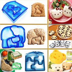 Sandwich Cutter Bear Car Dog Elephant Shape Cake Bread Toast Mold Mould Maker