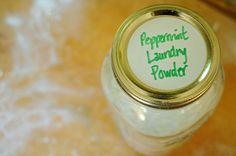 Peppermint laundry powder