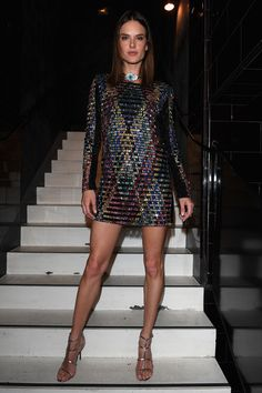 Alessandra Ambrosio: Wearing Balmaian | Attends the Balmain Menswear Spring/Summer 2017 after party as part of Paris Fashion Week at Les Bains on June 25, 2016 in Paris, France. - Balmain : After Party - Paris Fashion Week - Menswear Spring/Summer 2017
