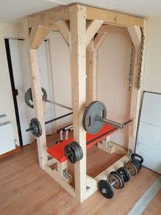diy squat rack  fitnessraum fitnessstudio zu hause und