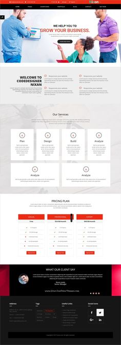 Nixon is clean and modern design responsive #bootstrap template for #corporate business and professional services website with 10 unique homepage layouts to live preview & download click on Visit