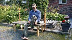 Tee se itse -ideoita puutarhaan ~ DIY garden ideas: Penkki miestä myöden