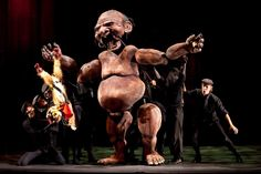 The Ogre is eight feet tall and needs five puppeteers.  Photo: Richard Termine