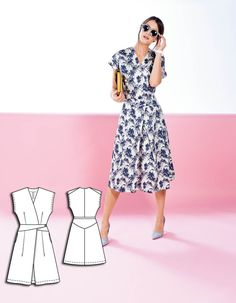 Criss Cross Midi Dress 03/2014 #127B http://www.burdastyle.com/pattern_store/patterns/criss-cross-midi-dress-032014?utm_source=burdastyle&utm_medium=blog&utm_campaign=bsmhbl022315thehonolulucollection-127B