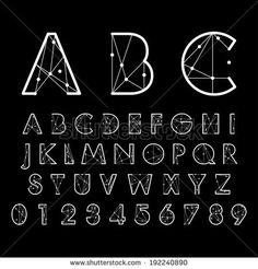 creative alphabetic fonts and numbers (all with watermark)