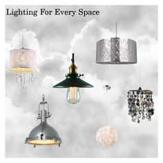 """Lighting For Every Space"" by thehousewife on Polyvore featuring interior, interiors, interior design, home, home decor and interior decorating"