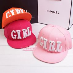 10c3be579 New Acrylic Letters Korea Rivets GIRL Brimmed Hat Flat Cap Hip Hop Hip Hop  Baseball Cap Hat Men And Ms. Chao In Stock Snapback Cap Cool Hats From  Gaiastore