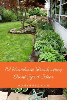 12 Farmhouse Landscaping Front Yard Ideas - HomyBuzz Fuchsia Plant, Plants, Farmhouse Landscaping, Yard, Front Yard, Landscape, Outdoor, Outdoor Decor, Azaleas