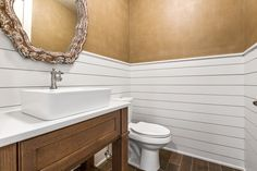 Shiplap bathroom from Swanson Homes | Artisan Home Tour