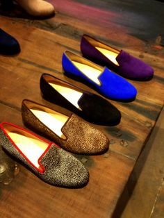 Luxe smoking slippers