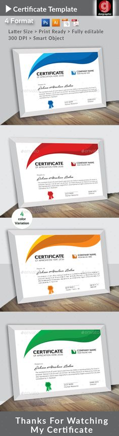 Certificate Template Experience Certificate Achieving - creative certificate designs