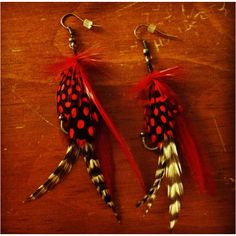 Fly fishing lure earrings made by my dad.