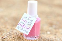 Beach Tropical Favor Tags, Nail Polish Favor Tags, Bachelorette Party Tags, Wedding Shower Tags, Destination Wedding, Thank You Favor Tags by PinkFoxPapercrafts on Etsy https://www.etsy.com/listing/453907358/beach-tropical-favor-tags-nail-polish